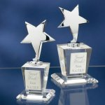 Chrome Stars with Crystal Bases Employee Awards