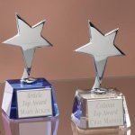 Small Stars with Crystal Bases Patriotic Awards