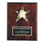 Star Plaque Piano Finish Plaques