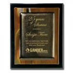 Brown Metallic Fusion Piano Finish Plaques
